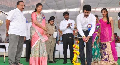 On 08.01.2020 District Collector Inaugurated Rajamahendravaram Municipal Corporation Sports 2020.