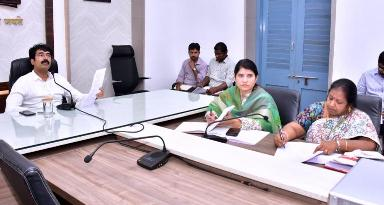 On 10.01.2020 District Collector conducted review meeting on Republic Day arrangements at collectorate, Kakinada.