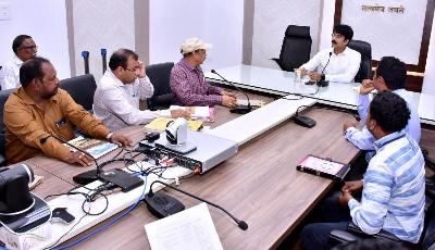 On 10.01.2020 District Collector conducted review meeting on DIPC at collectorate, Kakinada.