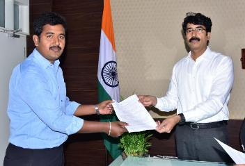 On 13.01.2020 District Collector handed over appointment letters to beneficiaries of Compassionate Appointments.