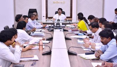 On 18.01.2020 District Collector conducted review meeting on NREGS convergence.