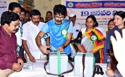 On 19.01.2020 District Collector, Joint Collector, MLA Kakinada City, Mayor Kakinada Municipal Corporation, Joint Collector-2 and other officials participated in puls polio program.