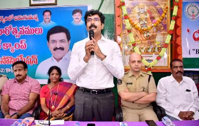 On 20.01.2020 Honourable Member of Parliament, Kakinada, District Collector, Superintendent of Police, Deputy Transport Commissioner and others participated in Free Medical Campaign and Awareness programme on Road Safety Celebrations at Lorry Association Hall, Dairy farm centre, Kakinada