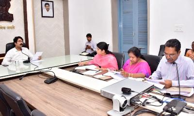 On 21.01.2020 District Collector conducted review meeting with Fisheries Department Officials.