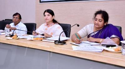 On 23.01.2020 Joint Collector-2 conducted review meeting on NREGS convergence.