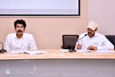 On 24.01.2020 District Collector conducted review meeting on DIPC.