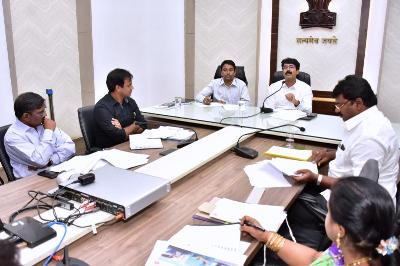 On 31.01.2020 District Collector and Joint Collector conducted review meeting on CRS Funds of ONGC at collectorate, Kakinada. Honourable Member of Legislative Assembly Mummidivaram, Executive Director ONGC and others participated.