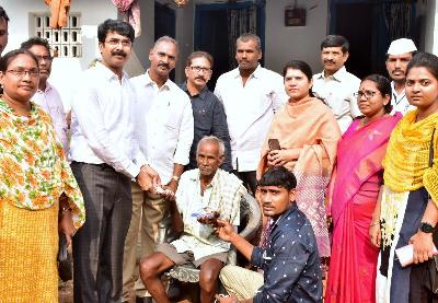 On 01.02.2020 District Collector participated in Door to door pensions distribution program at Thimmapuram Grama Sachivalayam Area of Kakinada Rural Mandal. Joint Collector-2 and others officials also participated.