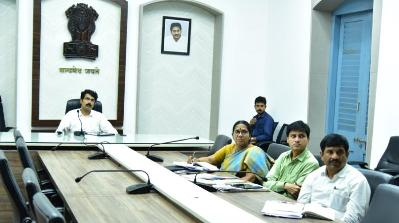 On 06.02.2020 District Collector and other officials participated in the video conference conducted by Special Secretary .
