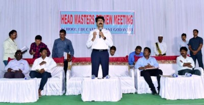 On 10.02.2020 District Collector, conducted review meeting with MEOs, HMs, SC, ST, BC Hostels Welfare officers on SSC Examinations at Ambedkar Bhavan, Kakinada.