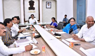 On 15.02.2020 District Collector conducted Hospital Development Committee. Member of Parlaiment, Kakinada, Member of Legislative Assembly, Kakinada City and other officials participated