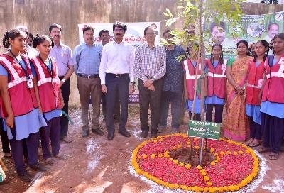 On 22.02.2020 District Collector participated in Trees Plantation programme at Municipal Girls High School, Salipeta, Kakinada.