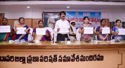 On 7-3-2020 District Collector, Joint Collector-II, Zilla Parishad CEO and others participated in National Women's Day Celebrations at Zilla Parishad hall, Kakinada.
