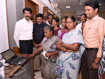 On 20.03.2020 Honourable Member of Parliament, Kakinada, MLA Kakinada City, District Collector and Joint Collector Launched House Sites Allotment to the Beneficiaries through Computerized Randomization System at collectorate, Kakinada.