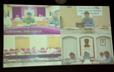 On 23.03.2020 Joint Collector and Civil Supplies Department Officials participated from collectorate, Kakinada in the video conference conducted by Civil Supplies Commissioner.