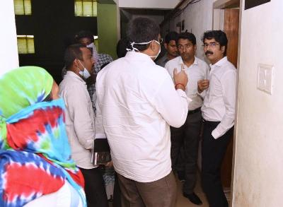 On 27.03.2020 District Collector and Joint Collector visited visited Quarantine Center at JNTU Indoor Stadium, Kakinada.