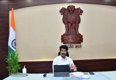 On 10.06.2020 District Collector conducted Zoom App based Video Conference with Joint Director Fisheries, DMHO, Additional SP, port officers on the precautions to be taken at fish markets & fish landing centers in view of covid-19