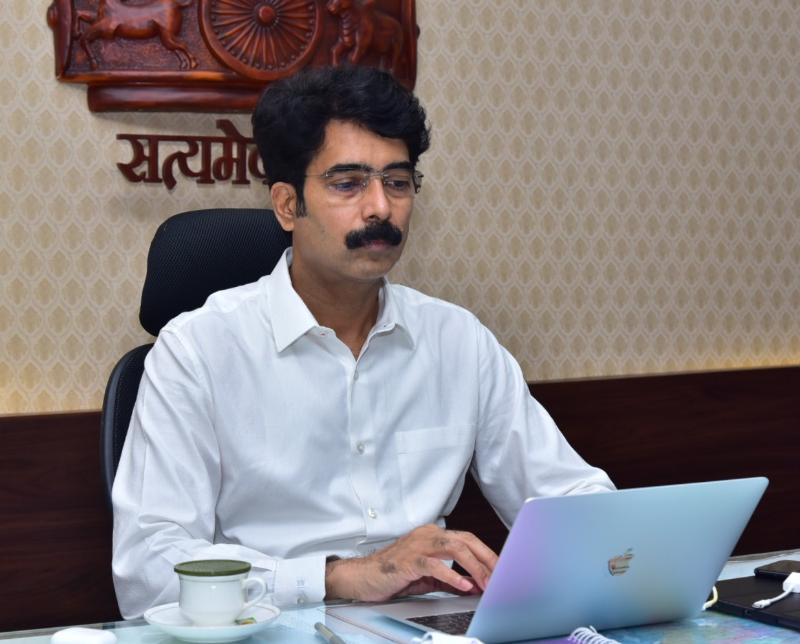 On 21.09.2020 District Collector conducted series of meetings through Zoom Video Conferencing facilities with various officers concerned.