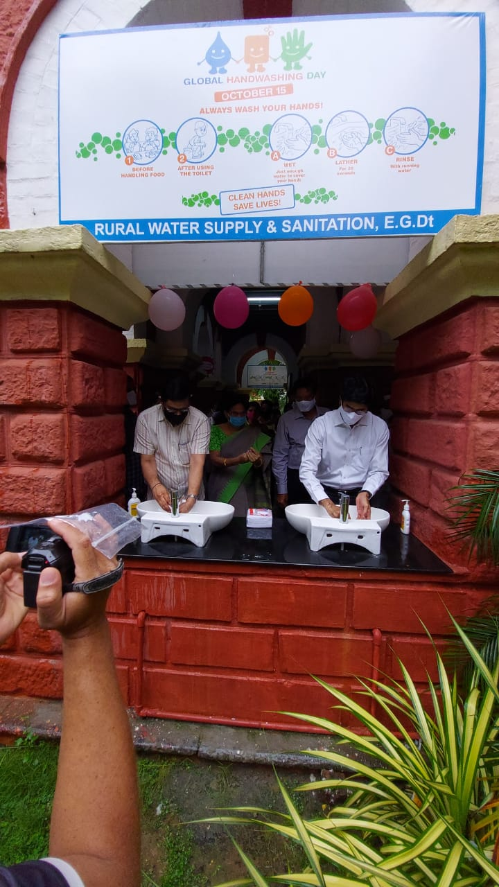 On 15.10.2020 District Collector participated in the Global Handwash Day event held at the Collectorate.