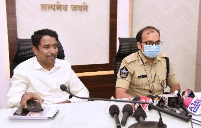 On 04.11.2020 Joint Collector(R) conducted press meet on sand at collectorate, Kakinada. Additional SP of SEB participated.