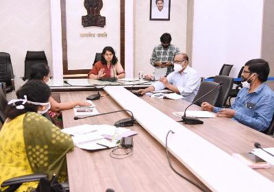 On 05.11.2020 Joint Collector(D) conducted review on Medical & Health at collectorate, Kakinada. DMHO and other officers participated.