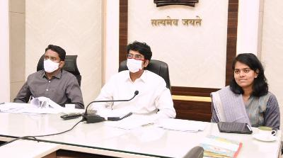On 09.12.2020 Honourable Chief Minister Government of Andhra Pradesh conducted review through video conference with Revenue and Survey Departments on YSR Jagananna Saswatha Bhu Hakku - Bhu Raksha Program. District Collector, Joint Collector(R), Joint Collector(D) and other officers participated from Collectorate, Kakinada.
