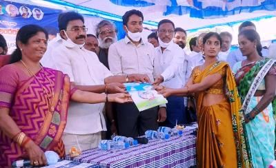 On 31-12-2020 Honourable Member of Parliament, Kakinada, MLA Pithapuram and Joint Collector distributed of Nava Ratnalu pedalandariki illu house sites pattas at Amara villi village U.kothapalli mandal. RDO Kakinada and others participated.