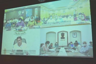 On 05.01.2021 Joint Collector(R) and Joint Collector(D) participated in Video Conference conducted by Chief Minister of Andhra Pradesh