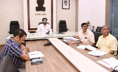 On 21.01.2021 District Collector, District Revenue Officer and other officers participated in Andhra Pradesh Chief Electoral Officer Video conference from at collectorate, Kakinada.
