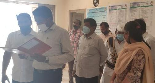 On 21.01.2021 Joint Collector(R), inspected Village secretariat at thimmapuram village of kakinada rural madal.