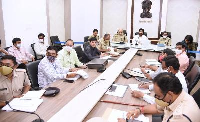 On 27.01.2021 State Election Commissioner conducted Video conference on Grama Panchayithi Elections. District Collector,Superintendent of Police Kakinada, Superintendent of Police, Rajamahendravaram Urban, Joint Collector(D), DRO and other District Officers participated from Collectorate, Kakinada.