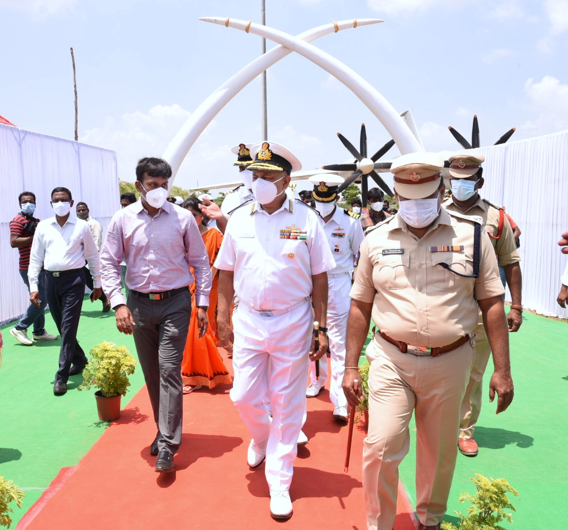 On 04.09.2021 East Naval Chief Vice Admiral along with District Collector inspected TU-142 Aero Plane Museum being constructed at Kakinada Beach Park. Municipal Commissioner Kakinada, Chair Person, Vice-Chair Person also accompanied