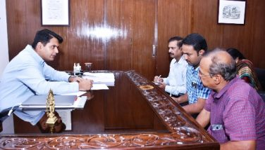 District Collector conducted review meeting on NH-216 works