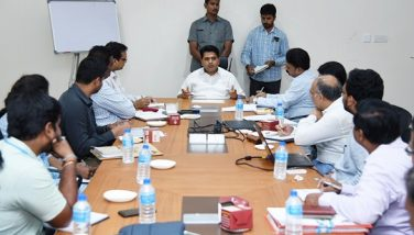 District Collector conducted review meeting with Godavari Urban Development Authority Officials at KSCCL, Kakinada on 08-01-2019.