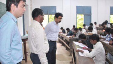 Grama Secretariat exam inspection