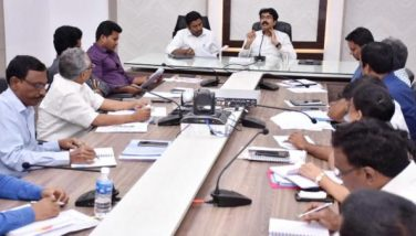 On 15.11.2019 District Collector and Joint Collector conducted review meeting on Sand with RDs and other Officials.