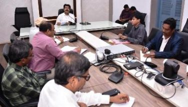 On 15.11.2019 District Collector conducted review meeting District Task Force and DIPC Officials.