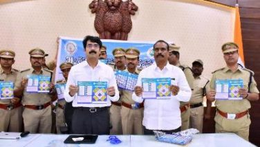 On 18.01.2020 District Collector released road safety posters.