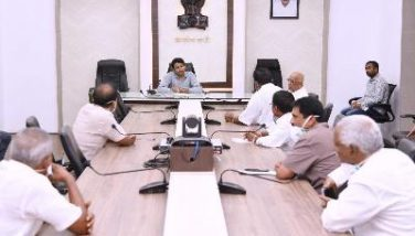 On 04.04.2020 Joint Collector conducted meeting with Rice Millers Association on Transportation of rice to Kerala Government.