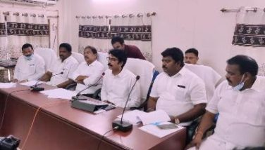 On 04.04.2020 Honourable Social Welfare Minister, District Collector and Joint Collector conudcted review on Covid-19 with Division Level Task force Committee at RDO Office, Amalapuram