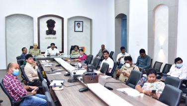 On 05.04.2020 Cabinet Secretary, conducted Country level Video conference with All Collectors of all the district in the country on noval coronavirus (COVID-19). District Collector, SP Kakinada, SP Rajamahendravaram, Joint Collector-2, DRO, GGH superintendent, DM&HO, DPO, Municipal commissioners and Other officers participated from collectorate Kakinada
