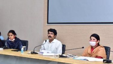 On 15.06.2020 District Collector conducted press meet on covid-19 & sand at collectorate Kakinada.