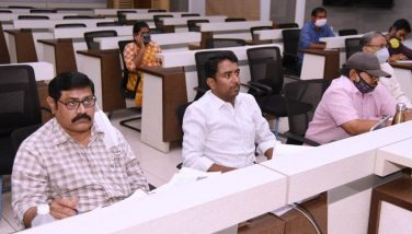On 04.09.2020 Honourable Deputy Chief Minister and Revenue Minister Dharmana Krishna dasu conducted video conference on House Sites and other issues. In this VC Joint Collector, DRO and other officers participated from Collectorate, Kakinada.