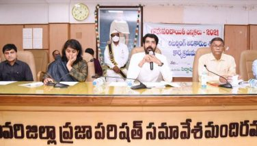 On 27.01.2021 District Collector, Joint Collector(D) participated in the Training programme held at Zilla Parishad Meeting Hall, Kakinada for Stage-1 Returning Officers for Gram Panchayat Elections.