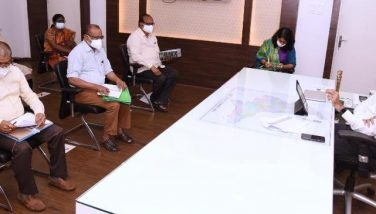 On 22.07.201 District Collector conducted review meeting on Covid Third Wave preparation with Medical & health and concerned departments at Collectorate, Kakinada. Joint Collector(D), DMHO and ZP CEO attended.
