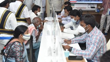 On 23th August, 2021 District Collector, Joint Collector(R), Joint Collector(D), Joint Collector(A), Joint Collector(H) and District Revenue Officer received petitions, applications from public in Spandana held at Collectorate, Kakinada .