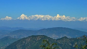 Himalayan View from Mukteshwar