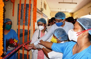 newly constructed ICU, HDU in Base Hospital.