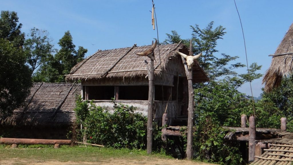 typical mizo traditional house at Falkawn