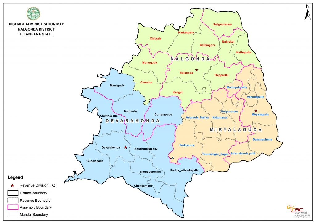 Nalgonda Map